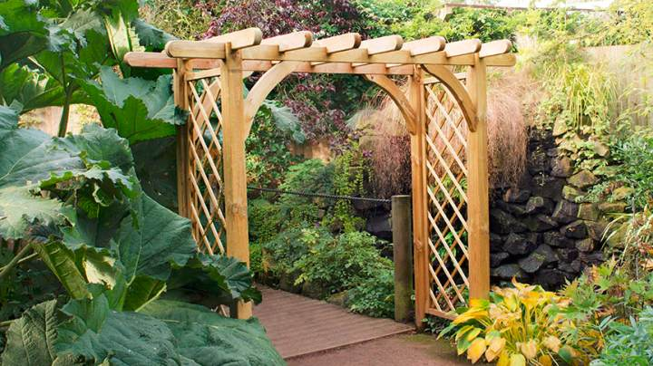 Wide Wooden Arch