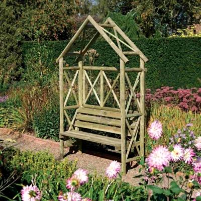 Rowlinson Rustic Seat Arbour