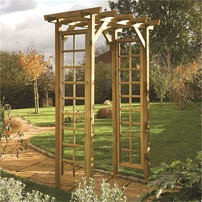 Rowlinson Traditional Square Top Garden Arch